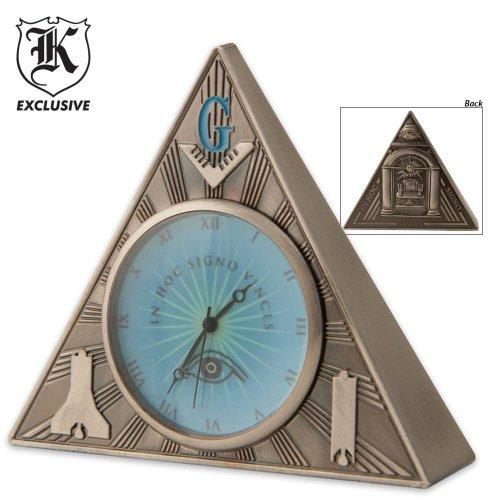BudK Masonic Triangle Desk Clock, Outdoor Stuffs