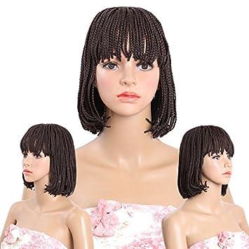 Meisi Hair Haarverlängerung Damen Perücken Bob Frisur Box Braid