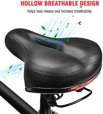 Sillín de Bicicleta, Asiento de Bicicleta Almohadilla a Prueba de Golpes, Cojín para Bicicleta de Piel Sintético Suave Adecuado para Bicicletas de Montaña: Amazon.es: Deportes y aire libre