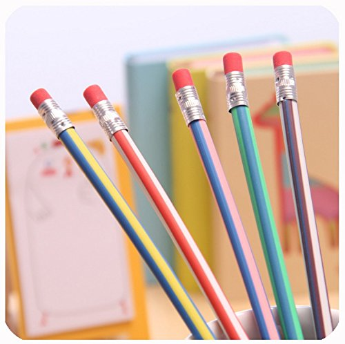 Haawooky 35 Pieces Flexible Soft Pencil Magic Bend Pencils for Kids Children School Fun Equipment by Haawooky (Image #7)