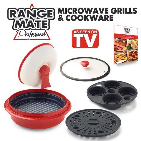 Bacon Microwave Dish (Range Mate Pro Deluxe Nonstick Microwave 5-in-1 Grill Pot/Pan Cookware Set
