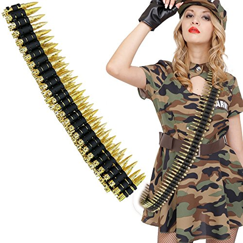 Uniton - Bullet Belt Gold (Halloween Costume Accessory) -