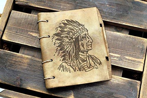 Vintage Apache Indian Leather notebook / sketchbook on split rings