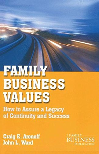 Family Business Values: How to Assure a Legacy of Continuity and Success (A Family Business Publication)