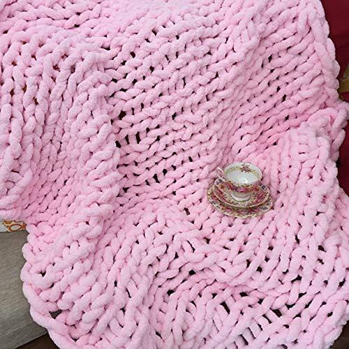 Chenille yarn blanket