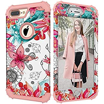 iPhone 8 Plus Case, iPhone 7 Plus Case, CASY MALL 3-Layers Heavy Duty Hybrid Full-Body Protect Case for Apple iPhone 7 Plus(2016)/iPhone 8 Plus(2017)