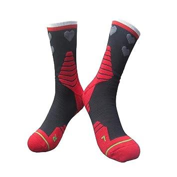XUHAHAWZ Calcetines/Calcetines con Base De Toalla/Grueso/Calcetines Profesionales/De Baloncesto