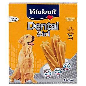 VITAKRAFT Vita Fuerza Cuidado Dental Snack para Perros Multi Pack Dental 3en 1Sticks