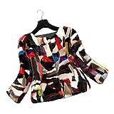 SPRINGWIND Real Mink Fur Coat Jacket Overcoat Fur Women Outerwear