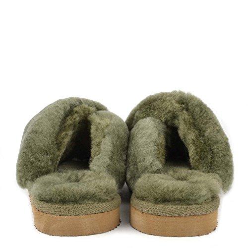 Of Lovisa Scarpe Sweden Donna Olive Shepherd Montone Pantofola 1Cvqqw