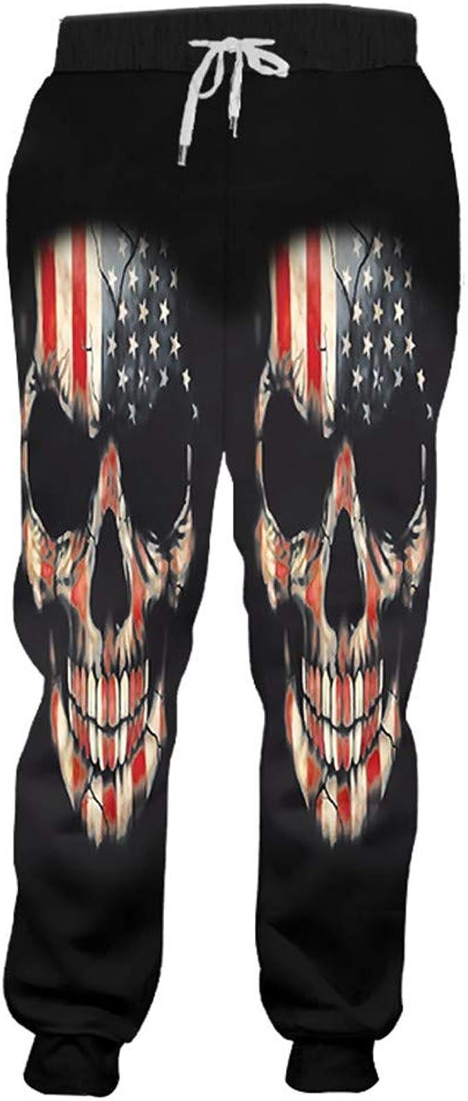 Gengemter - Pantalones de chándal Unisex con diseño de Bandera de ...