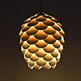 Handmad New Pine Cone Hanging 1-Light Pendant Lamp, hanging lamp,wooden lamp, decorative ceiling lamp, fixtures