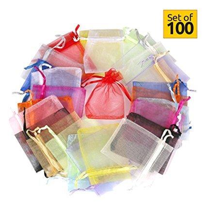 Hesky Bolsas de Organza de Regalo (100 Piezas, 10 Colores ...