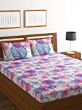 Bombay Dyeing Breeze 120 TC Cotton Double Bedsheet with 2 Pillow Covers - Blue