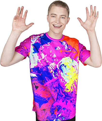 3D Rock Star Color T-Shirt Led Light Abstract Tee for Adult Youth Young - Shirt Rock Tee