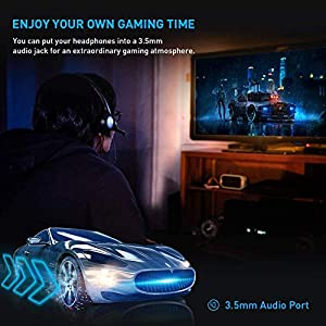 PS4 Controller Wireless Gamepad for Playstation 4/Pro/Slim/PC and Laptop with Motion Motors and Audio Function, Mini LED Indicator, USB Cable and Anti-Slip - Blue (Color: Blue)
