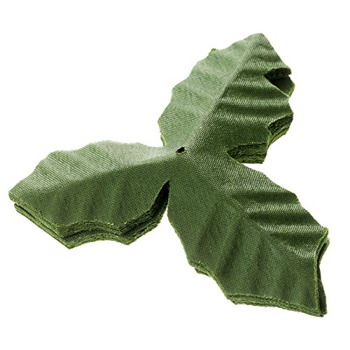 dophee 50Pcs Artifical Leaves Rose Flower Leaf Wedding Bouquet Garden Home Decor Crafts - Green