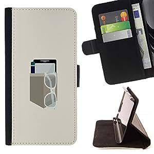 Momo Phone Case / Flip Funda de Cuero Case Cover - EQUIPO DE BOLSILLO MINIMALISTA - HTC DESIRE 816