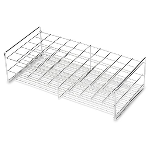 (Stainless Steel Test Tube Rack, 30mm, 50 Place, Wire Constructed, Handles, Karter Scientific 235F3 (Single))