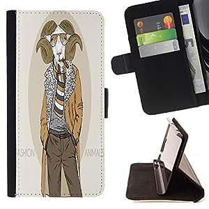 Dragon Case - FOR Sony Xperia Z1 Compact D5503 - ?listeningto strange music - Caja de la carpeta del caso en folio de cuero del tir¨®n de la cubierta protectora Shell