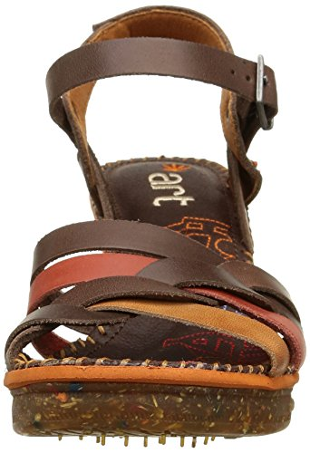 art Amsterdam - Sandalias de tobillo Mujer Marrón (Multi Brown)