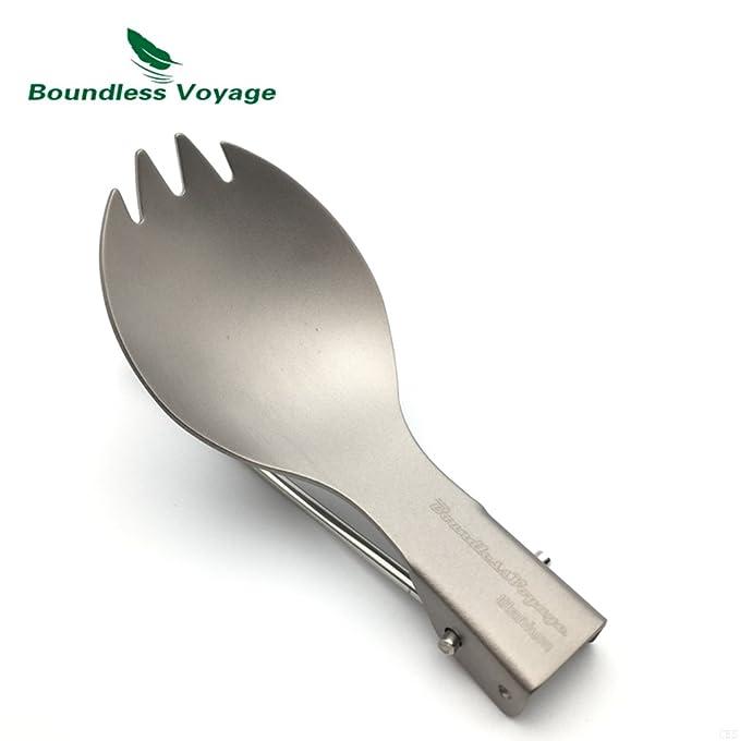100% titanio ligero al aire libre vajilla ecológica saludable Cubiertos y utensilios de cocina: Amazon.es: Deportes y aire libre