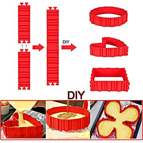 4-Pcs Non-Stick Cake Molds