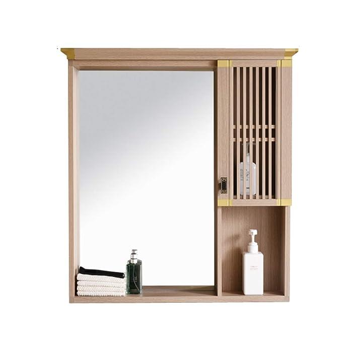 Liuhoulin Báscula de Pared Espejo de baño Estante de la ...
