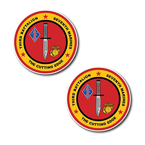 (#10932 Battalion 7th marine regiment usmc Sticker 2X Decal for Car, Motorcycles, Windows, Laptops, Walls and More (5