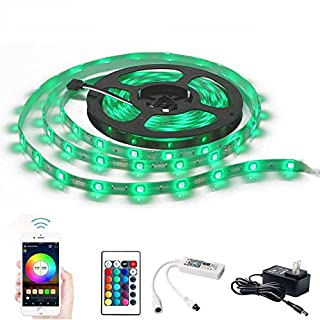 MagicLight WiFi Smart LED Strip Lights, Smart Wireless APP Controlled Light Strip Kit, 16.4ft 150 LEDs 5050 Waterproof IP65 LED Lights, Compatible with Alexa, Google Home, IFTTT and Siri Shortcut