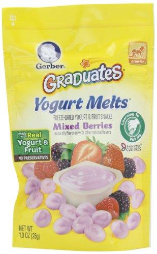 Gerber Выпускники йогурт тает, смешанный Берри, 1 унция (упаковка 7)