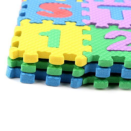 Trimming Shop 36 Pcs Soft Eva Foam Safe Play Mat Learning Alphabet Number Jigsaw Puzzle for Baby Children Kids UK by