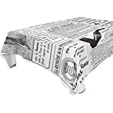 ALAZA Retro Newspapers,Rectangular Tablecloth for Dinner,Kitchen,Party,Picnic,Wedding,Restaurant or Banquet Use,Fall,Holidays,Thanksgiving,Halloween,Christmas,Tablecovers Spread,54x54 inch