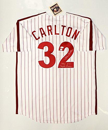 Steve Carlton Autographed Philadelphia Phillies P/S Cooperstown Jersey- JSA - Autograph Carlton Steve