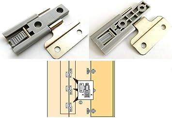 2 bisagras para puerta corredera plegable para armario, puerta de armario: Amazon.es: Bricolaje y herramientas