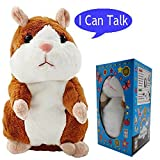 Plush Interactive Toys PRO Talking Hamster Repeats What You Say Electronic Pet Chatimals Mouse Buddy Christmas Gift for Boy and Girl, 5.7 x 3 inches