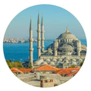 alfombrilla de ratón La Mezquita Azul de Estambul - ronda - 20cm