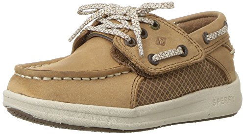 Sperry Gamefish A/C Boat Shoe (Toddler/Little Kid), Dark Tan, 6 Wide US Toddler