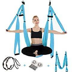UCEC Yoga Hammock is the perfect choice for aerial yoga lovers, UCEC Yoga Swing is made of tear-resistant parachute 210T nylon fabric, which is soft, breathable and lightweight. You can relax yourself by practising your aerial yoga.Features: ...