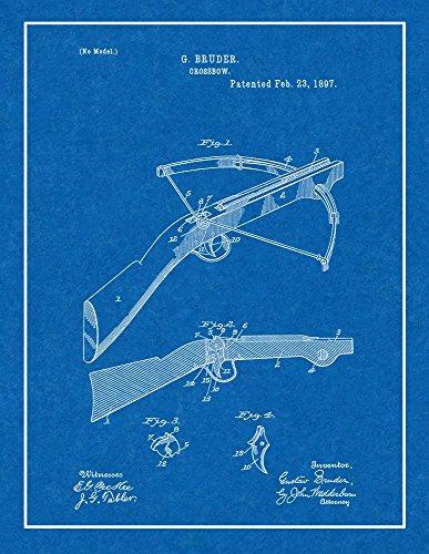 "Crossbow Patent Print Blueprint with Border (5"" x 7"") M12757"