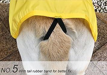 ajustable y f/ácil de llevar Impermeable impermeable para perro port/átil resistente a la lluvia y al agua tallas XS a XXXL disponible