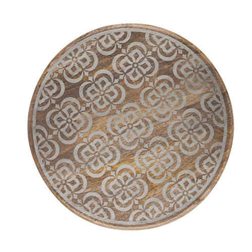 The Gerson Company 93566 16''D Meadowlark Home Collection Hand Made Mango Wood Starburst Pattern Lazy Susan 16''D Meadowlark Home Collection Mango Wood Starburst Pattern Lazy - Starburst Pattern