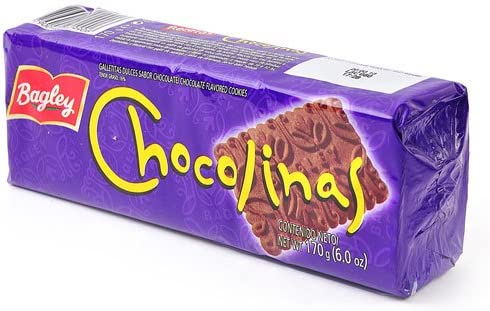 CHOCOLINAS CHOCOLATE COOKIES - GALLETITAS SABOR CHOCOLATE - 170 G/6 OZ EACH (6 PACK) - IMPORTED FROM ARGENTINA