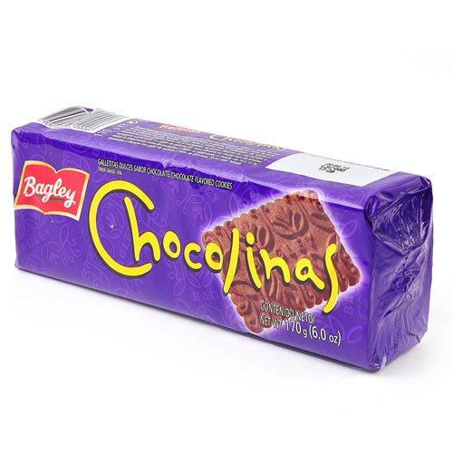 CHOCOLINAS CHOCOLATE COOKIES - GALLETITAS SABOR CHOCOLATE - 170 G/6 OZ EACH (6