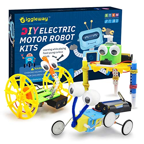 Giggleway Electric Motor Robotic Science Kits, DIY STEM Toys for Kids, Building Science Experiment Kits for Boys and Girls-Doodling, Balance Car, Reptile Robot (3 Kits) (Best Reptiles To Own)