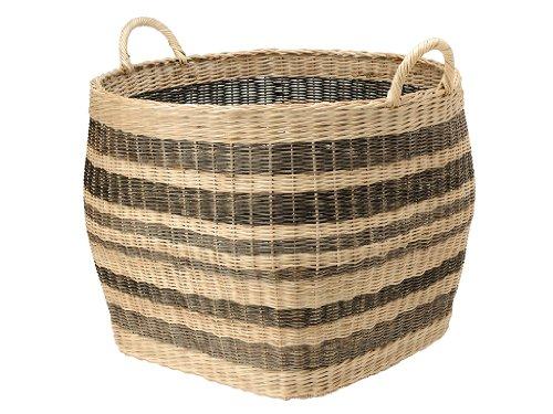 KOUBOO Large Striped Wicker Storage Basket