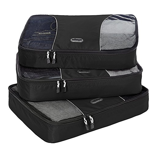 EBags Large Packing Cubes - 3pc Set (Black)