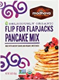 Madhava Naturally Sweet Organic Ancient Grains Baking Mix, Flip for Flapjacks Pancake, 16 Ounce (Pack of 6)
