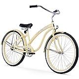 "Firmstrong Bella Classic Single Speed Beach Cruiser Bicycle, 26"", Vanilla"