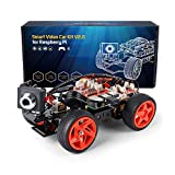 SunFounder Raspberry Pi Smart Video Robot Car Kit, Graphical Visual Programming, Remote Control Electronic Toy with Camera and Tutorial for Raspberry Pi 4 Model B 3 Model B+ B 2B